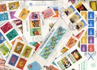 NETHERLANDS ALTILLES. Unusual mixture, mainly complete sets & S/S FDC clips on light weight double paper. Received Aug 2020
