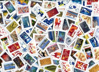 FRANCE. All large commemoratives on closely clipped SINGLE paper for a very high yield! Mainly from 2016 & 2018 Good Variety.≈ 125  STAMPS/OZ . RECEIVED MAR 2020