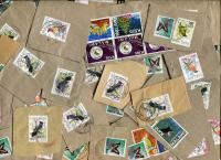 MALAWI: Unusual mix of 21st century issues; mainly surcharges on Birds, but some commemoratives as well.Big, double paper.≈ 35 STAMPS/OZ   Received DEC 2020