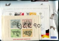 GERMANY: Mixed Germany and Berlin Souvenir Sheets, mostly used.  OFF PAPER. Received JAN 2020