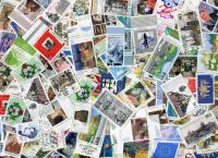 GERMANY: Mixed Used Commemoratives & some semis.. OFF PAPER.  ≈ 250  STAMPS/OZ. Received SEP 2020