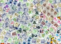 GERMANY:  Only Booklet stamps. Singles, strips, panes. May be a few MNH. OFF PAPER.  Approximately 300 stamps per ounce. Received **SOLD OUT**